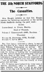 Tom Lewis Sentinel Clip Tuesday 8th June 1915